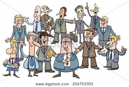 Cartoon Businessmen Or Managers Group