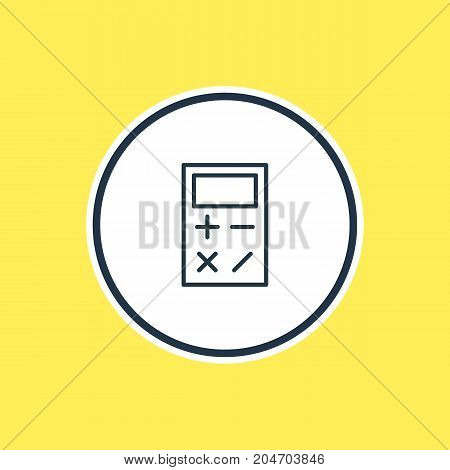 Beautiful Studies Element Also Can Be Used As Calculate  Element.  Vector Illustration Of Calculator Outline.