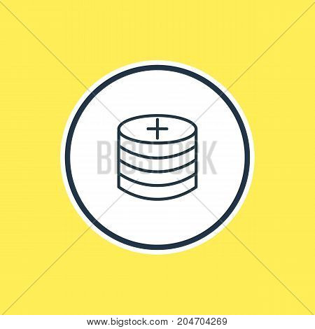 Beautiful Wholesale Element Also Can Be Used As Plus Element.  Vector Illustration Of Profit Outline.