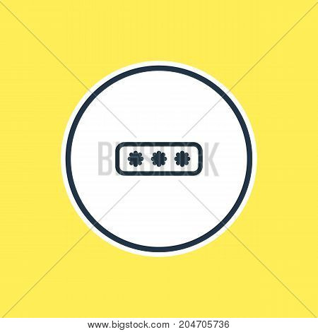 Beautiful Storage Element Also Can Be Used As Parole Element.  Vector Illustration Of Password Outline.