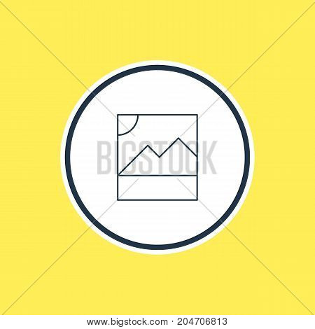 Beautiful Network Element Also Can Be Used As Photo Element.  Vector Illustration Of Image Outline.