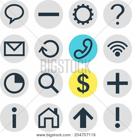 Editable Pack Of Stopwatch, Renovate, Help And Other Elements.  Vector Illustration Of 16 User Icons.