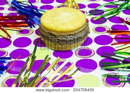Dessert Imposter Hamburger On Polka Dots