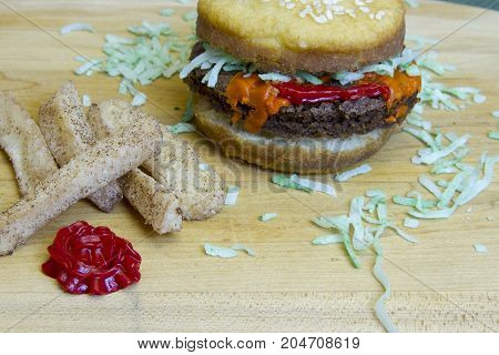 Dessert Imposter Cheeseburger And Apple Fries