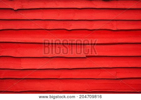Old Red Wooden Panels Background Or Texture