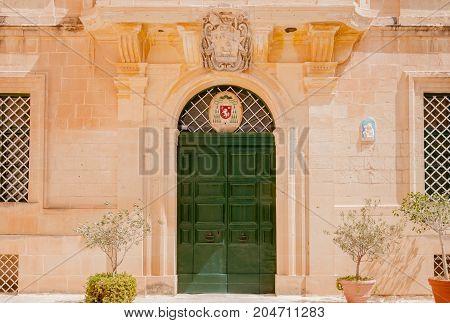 Architecture in the ancient city of Mdina Malta