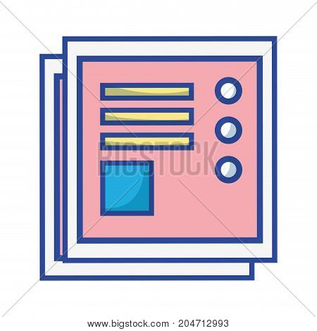 business document with company information design vector illustration