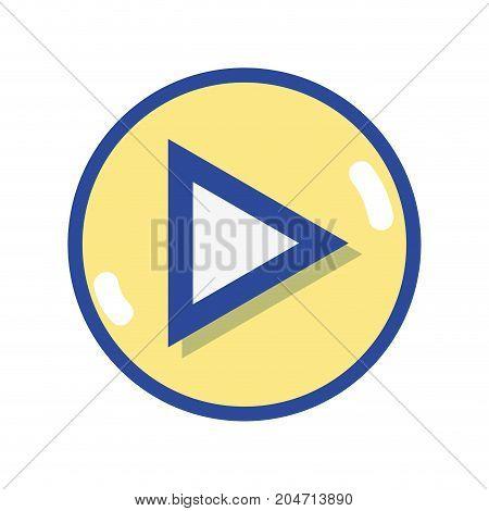 video media symbol to play film vector illustration