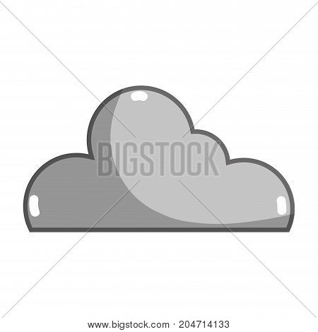 grayscale nice cloud shape to sky weather vector illustration