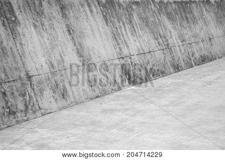 Abstract Concrete Interior. Empty Corner