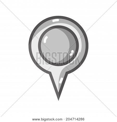 grayscale magnifying glass symbol to explore and search vector illustration