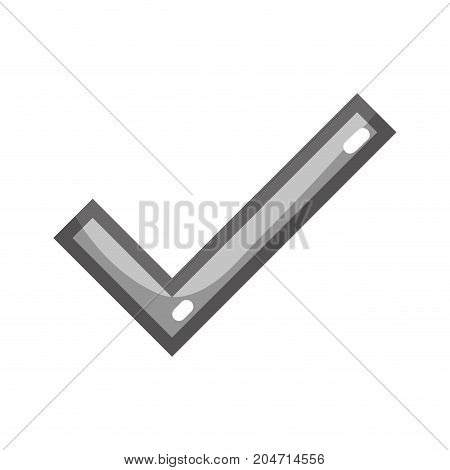 grayscale check symbol to correct option icon vector illustration