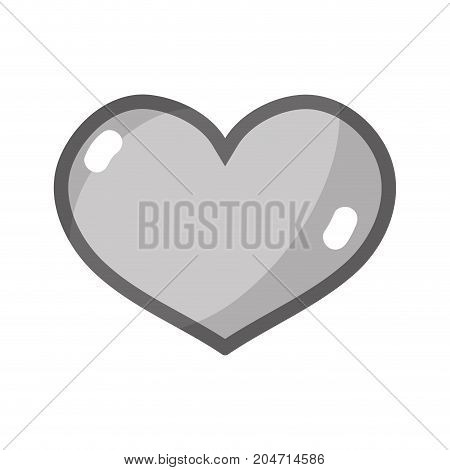 grayscale heart symbol of love icon design vector illustration