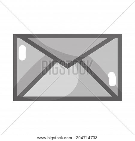 grayscale letter card with text message style vector illustration