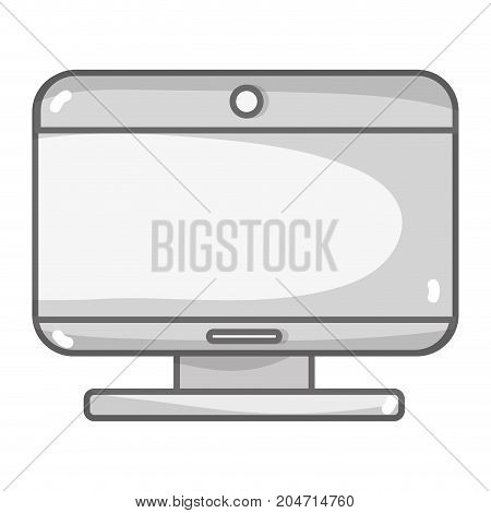 grayscale screen technology and moder equipment design vector illustrationn