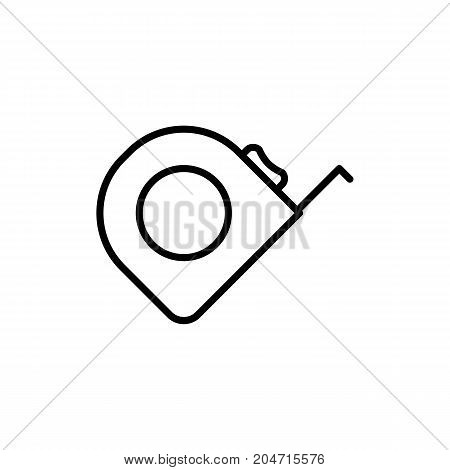Tape Measure Icon On White Background