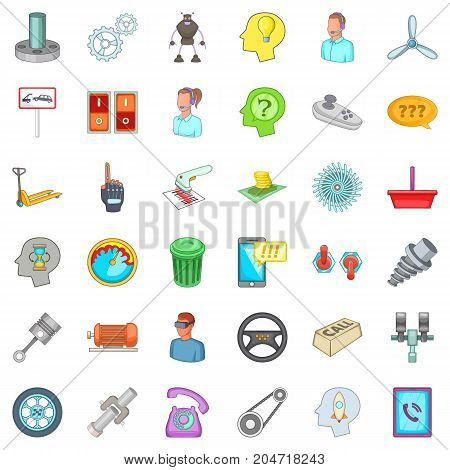 Shop reader icons set. Cartoon style of 36 shop reader vector icons for web isolated on white background