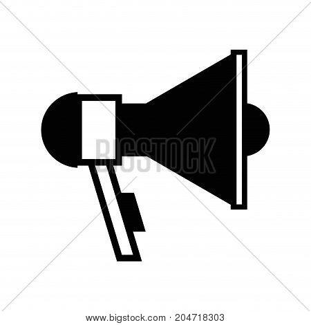 contour megaphone element to speak and said message vector illustration