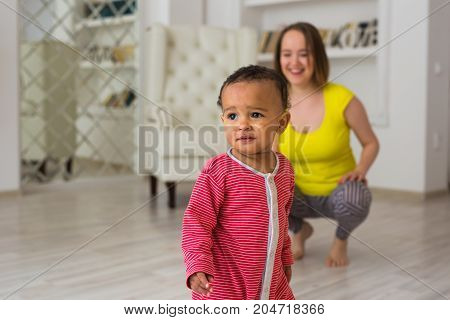 Portrait of a African American baby boy