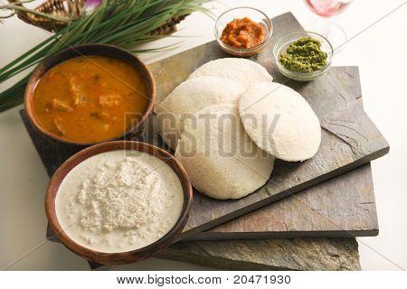 Sambar Idli or Sambar Idly