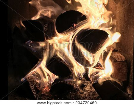 burning firewood in the oven, the effect of a warm hearth