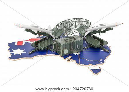Australian missile defence system concept 3D rendering