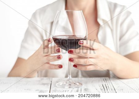 Woman Testing What Is The Use Of Red Wine