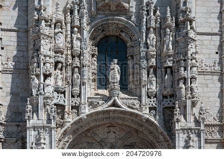Detail Of Jeronimos Monastery In Belem, Lisbon - Portugal