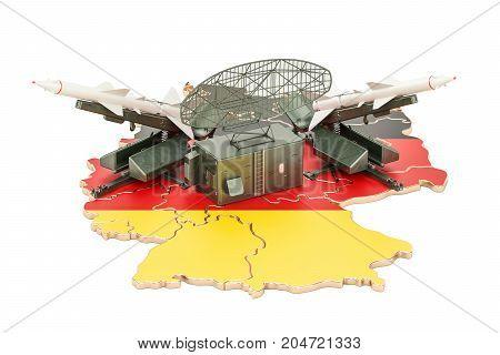 German missile defence system concept 3D rendering