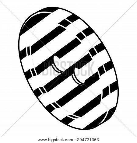 Black and white clothes button icon. Simple illustration of black and white clothes button vector icon for web design isolated on white background