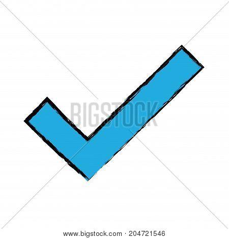 check symbol to correct option icon vector illustration