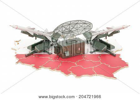 Polish missile defence system concept 3D rendering