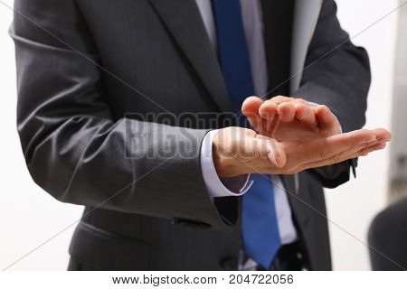 Businessman Applauds At A Seminar To The Lecturer