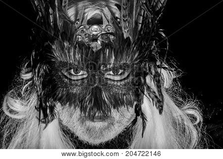 Male Face In Carnival Mask