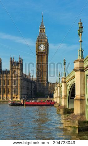 The Big Ben is British cultural icon , the tower is one of the most prominent symbols of the United Kingdom.
