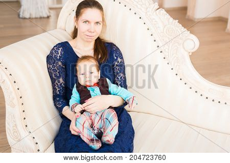 Adorable Caucasian baby boy. Portrait of a three months old baby boy