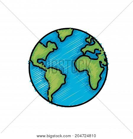 nice earth planet and natural ecology vector illustration