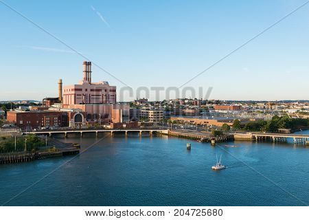 19th Century Power Generation Plant Boston Massachusetts
