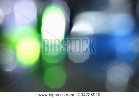 Blurred Background Of A Night City Glare And Light Of Different Colors