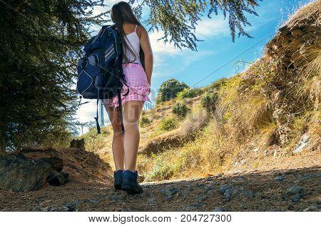 Beautiful Girl Tourist