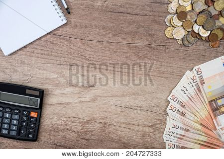 Copyspase, Euro Banknotes And Co In, Note, Calculator
