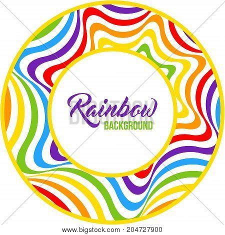 Rainbow background LGBT colors. Abstract geometric pattern. Vector illustration.
