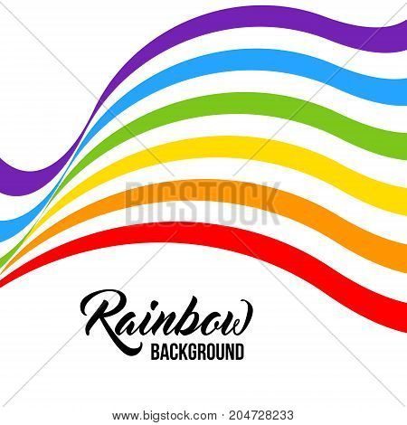 Rainbow background LGBT colors. Abstract geometric pattern. Vector illustration. Colorful wave wavy LGBT flag.