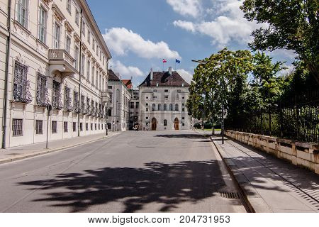One of the streets in the Innere Stadt of Vienna
