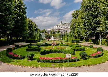 The popular Volksgarten near the Hofburg Palace, Vienna
