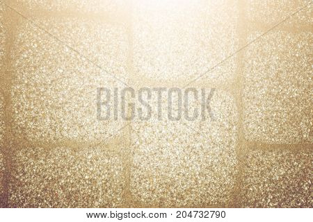 Abstract Background Of Old Cobblestone Pavement Texture With Natural Patterns View From Above. Vinta
