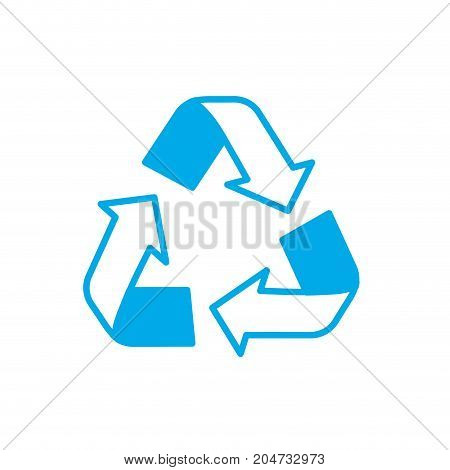 silhouette pretty environment symbol to recycle reduce and reuse vector illustration