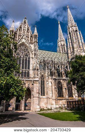 The neo-gothic Votive Church (Votivkirche), Innere Stadt, Vienna
