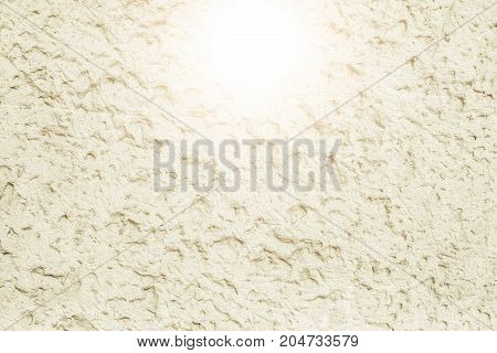 White Concrete Wall With Natural Texture And Cracks On The Surface As Background. Vintage Tone