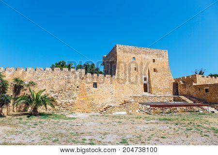 View Of The Historic Venetian Fort Of Kazarma. Sitia, Crete